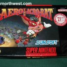 SNES SUPER NINTENDO VIDEO GAME AERO THE ACROBAT W/ BOX