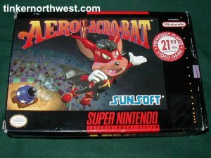 SNES SUPER NINTENDO VIDEO GAME AERO THE ACROBAT W/ BOX