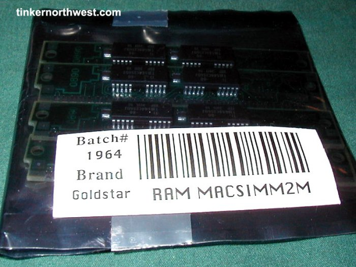Vintage Apple MAC RAM Simm 2M Goldstar 512K x4