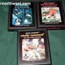 Atari 2600 MISSILE COMMAND, ASTERPOIDS, AIR SEA BATTLE