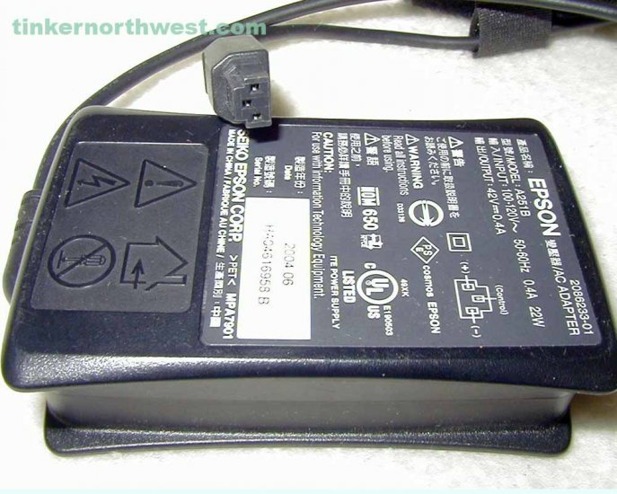 Epson A251B AC Power Adapter for PictureMate Printer