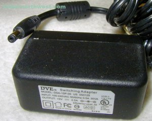DSA-15P-05 DVE AC Power Adapter 5VDC 2.5A Supply