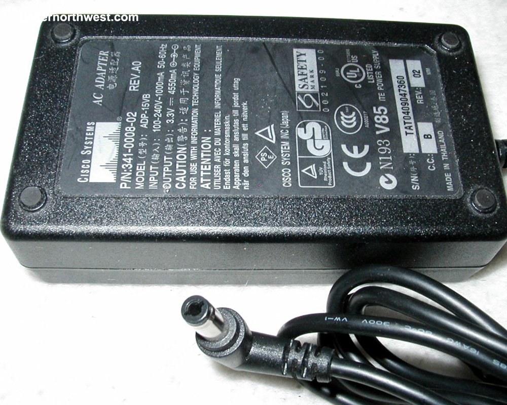 CISCO ADP-15VB 341-0008-02 AC Power Adapter 3.3V 4550mA