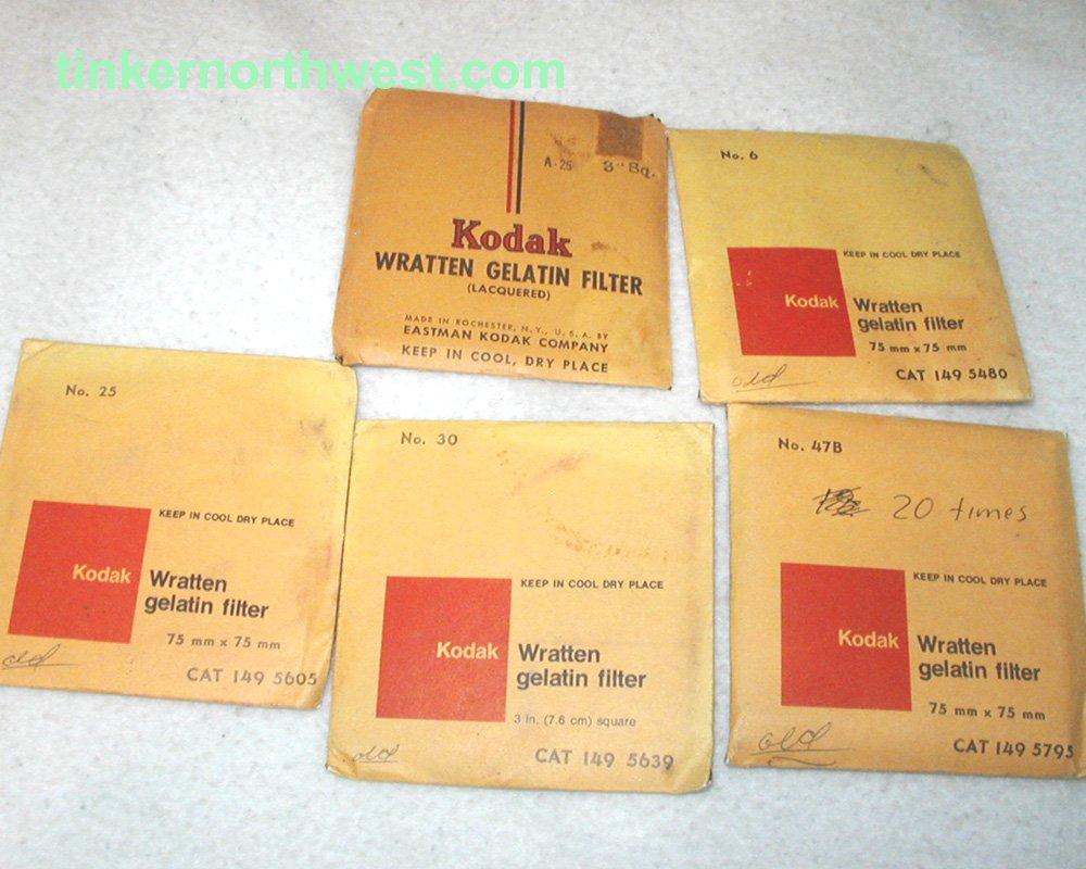 Kodak Wratten Filters 75mm x 75mm