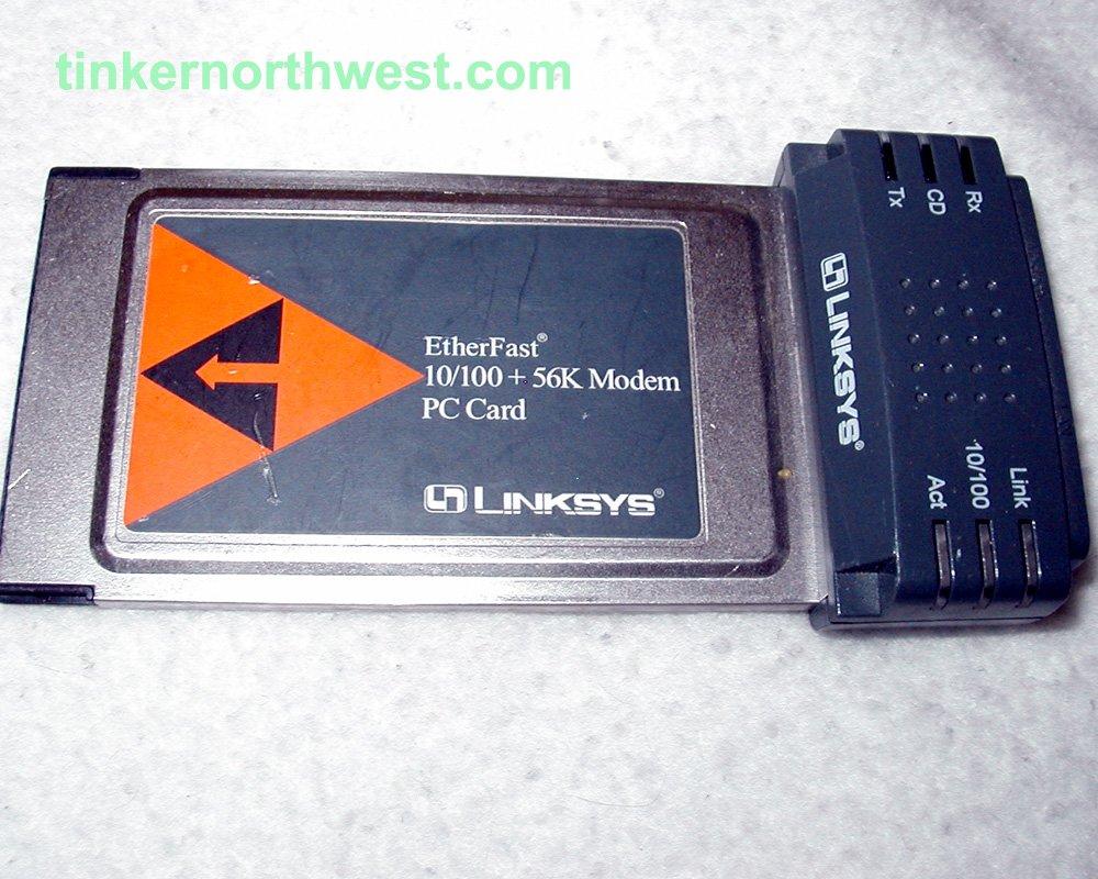 Linksys EtherFast 10/100 + 56K Modem PC Card PCMLM56