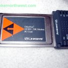 Linksys EtherFast 10/100 + 56K Modem PC Card PCMLM56
