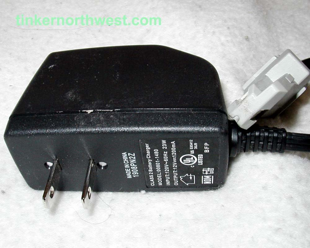 Power Wheels 00801-1480 Battery Charger, 12 Volt, Type N Connector