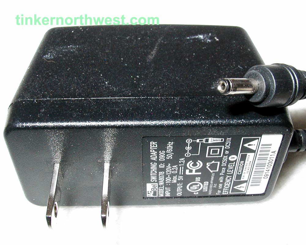 AcBel WA8078 AC Power Adapter 5VDC 1.2A Supply