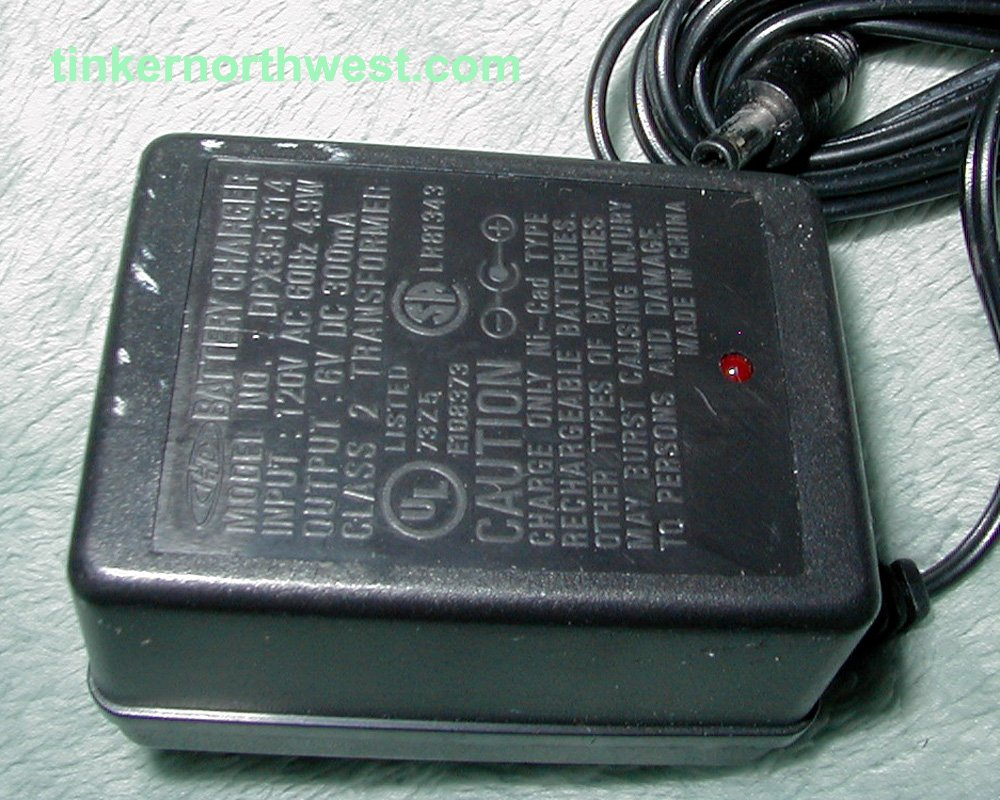 DPX351314 AC Power Adapter Charger 6VDC 300mA