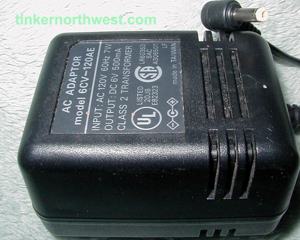 Sanyo CDP41 AC Adapter 6CV-120AE