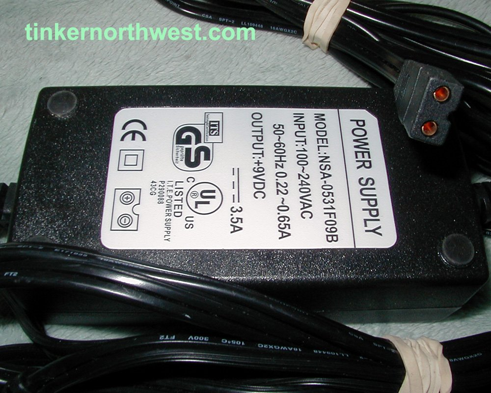 AC Adapter Power Supply NSA-0531F09B 9V DC 3.5A