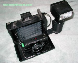 Polaroid Pro Pack Camera with Pro Flash, Polaroid Folding Camera