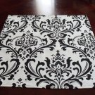 Wedding-Black & White Damask Table Squares FREE SHIP