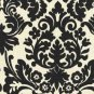 Wedding Table Runner Black and Ivory Floral Damask Runner Linens Table Centerpiece Decor