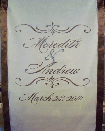 wedding ceremony accessories aisle runners runner snowflake monogram