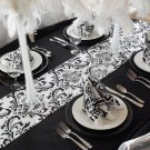 Wedding Table Runner Black and White Runner Table Centerpiece Decor