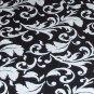 Wedding Black & White Table Runner Floral Table Centerpiece Linens Decor
