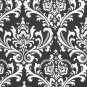Wedding Aisle Runner Fabric Black and White Floral Isle Runner Fabric Runner Ceremony Decor