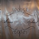 Wedding Personalized Custom Monogram Aisle Runner Hand Painted