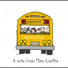 School Bus Custom Teacher Note Cards