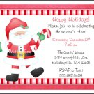 Santa Claus Custom Christmas Holiday Party Invitations