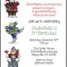 Winter Fun Snowman Custom Holiday Party Invitations