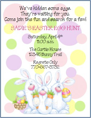 Easter party invitations gangcraft egg hunt custom birthday party invitations party invitations stopboris Image collections