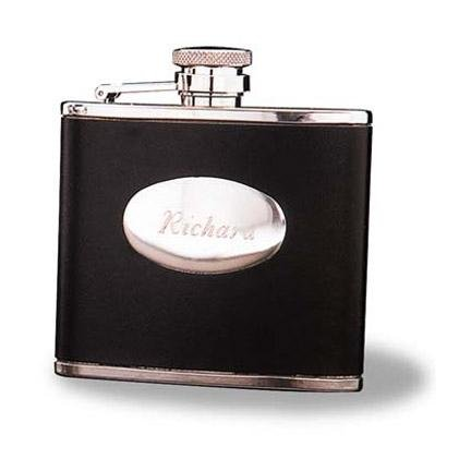 4 OZ. Leather Flask GC126