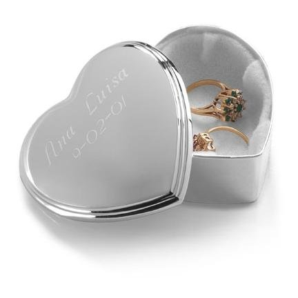 Silver Plated Heart Trinket Box GC132