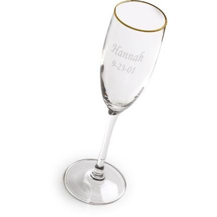 Gold Rimmed Engraved Toasting Glass GC150