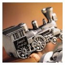 Pewter Train Bank GC168