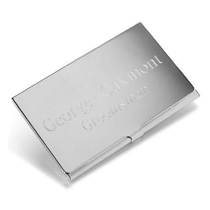 Silver Plated Card Case GC196