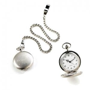 Brushed Silver Pocket Watch GC225