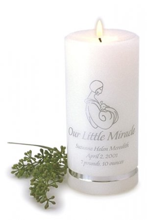 Personalized Our Little Miracle Candle GC319