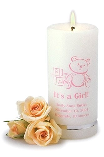 Personalized It's a Girl Candle gc322