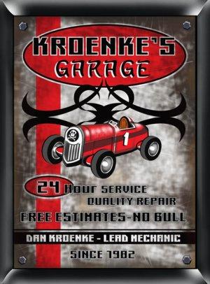 Garage Plaque Pub Sign