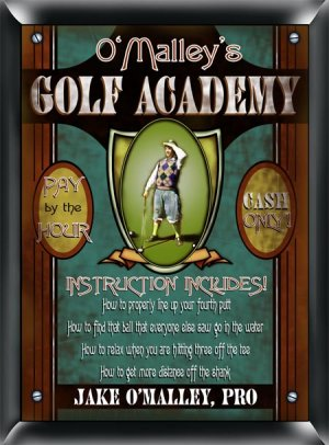 Gold Academy Sign