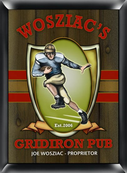 Gridiron Pub Sign