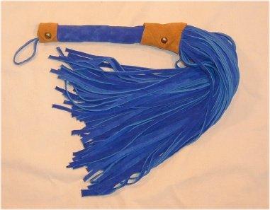 101 Lash Blue Suede Flogger