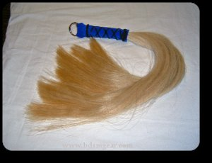 Blond 3/4 pound Horsehair Flogger