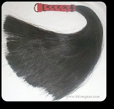 Black 1/2 pound Horsehair Flogger