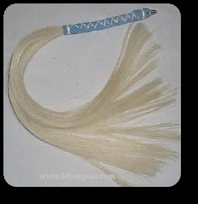 Blonde Small Horsehair Flogger