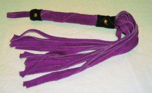 20 Lash 1/2 Inch Wide Purple Suede Flogger