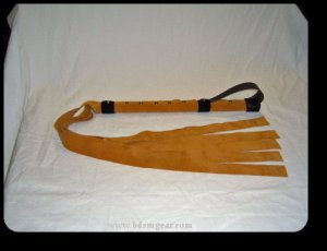 4 Foot Tan Suede Gorean Flogger