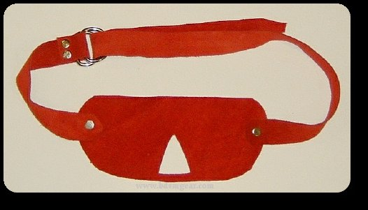Red Suede Blindfold