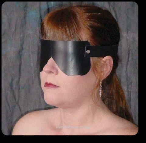 Black  Leather Blindfold