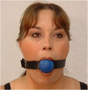 Blue Ball Gag