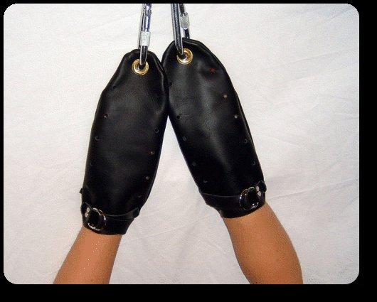 Leather Bondage Mitts