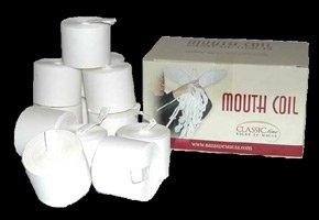 50' All White Mouth Coils, 12 Per Box (1639)