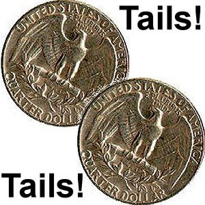 2 Two Tailed Quarter You Will Always Win With Tails 1586